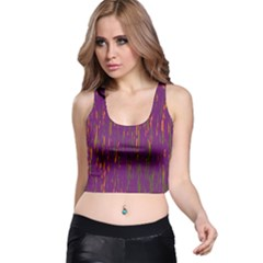 Purple pattern Racer Back Crop Top