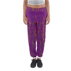 Purple pattern Women s Jogger Sweatpants
