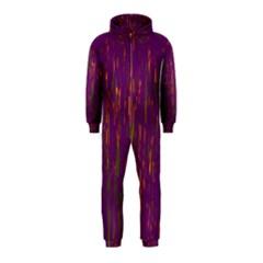 Purple pattern Hooded Jumpsuit (Kids)