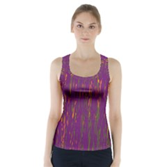 Purple pattern Racer Back Sports Top