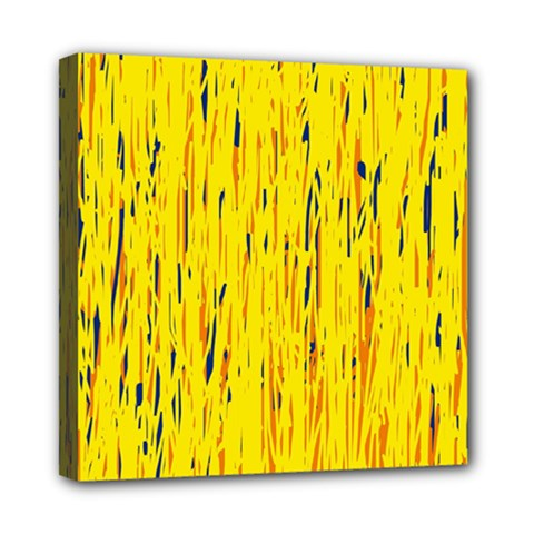 Yellow pattern Mini Canvas 8  x 8