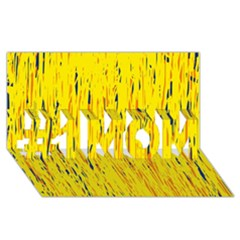 Yellow pattern #1 MOM 3D Greeting Cards (8x4)