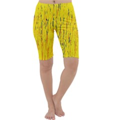 Yellow pattern Cropped Leggings