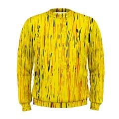 Yellow pattern Men s Sweatshirt