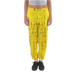 Yellow pattern Women s Jogger Sweatpants