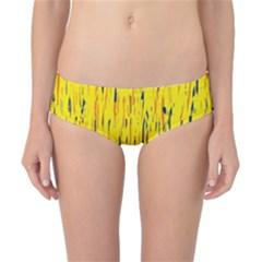 Yellow pattern Classic Bikini Bottoms