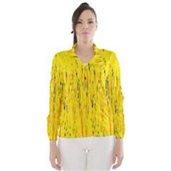 Yellow pattern Wind Breaker (Women)