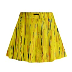 Yellow pattern Mini Flare Skirt
