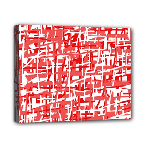 Red decorative pattern Canvas 10  x 8
