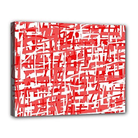 Red decorative pattern Canvas 14  x 11