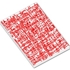Red decorative pattern Large Memo Pads