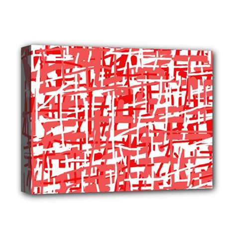 Red decorative pattern Deluxe Canvas 16  x 12