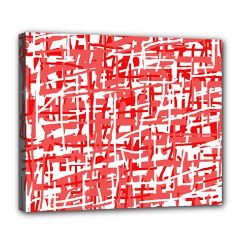 Red decorative pattern Deluxe Canvas 24  x 20