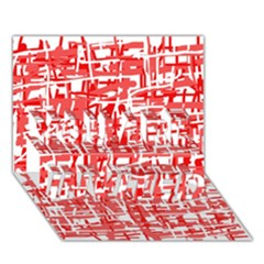 Red decorative pattern YOU ARE INVITED 3D Greeting Card (7x5)