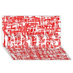 Red decorative pattern BEST BRO 3D Greeting Card (8x4)