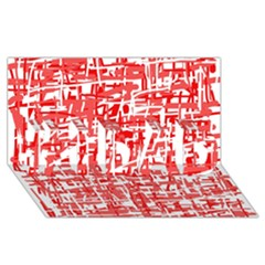 Red decorative pattern #1 DAD 3D Greeting Card (8x4)
