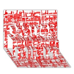 Red decorative pattern You Did It 3D Greeting Card (7x5)