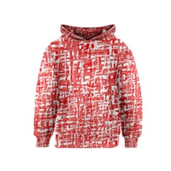 Red decorative pattern Kids  Pullover Hoodie