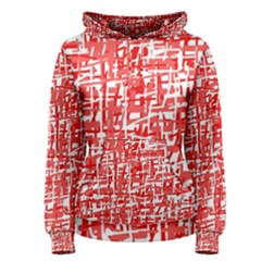 Red decorative pattern Women s Pullover Hoodie