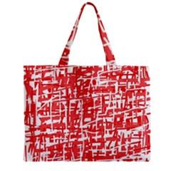 Red decorative pattern Zipper Mini Tote Bag
