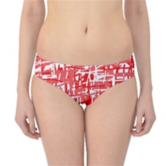 Red decorative pattern Hipster Bikini Bottoms