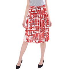 Red decorative pattern Midi Beach Skirt