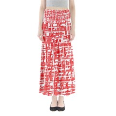 Red decorative pattern Maxi Skirts