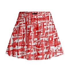 Red decorative pattern Mini Flare Skirt