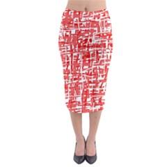 Red decorative pattern Midi Pencil Skirt