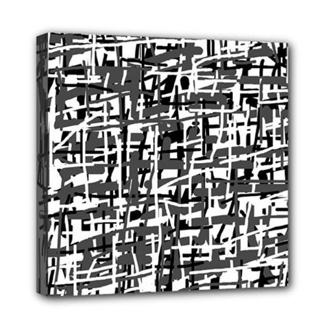 Gray pattern Mini Canvas 8  x 8