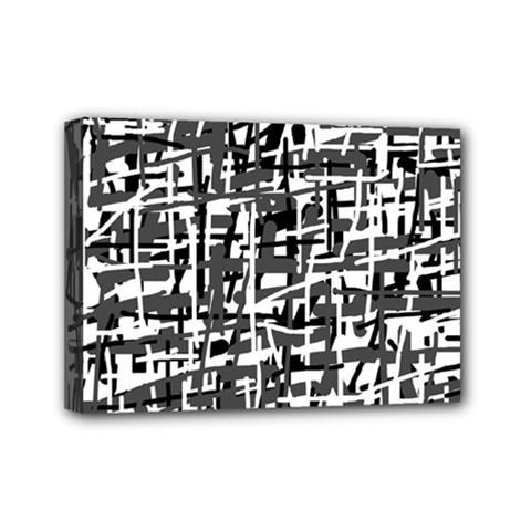 Gray pattern Mini Canvas 7  x 5