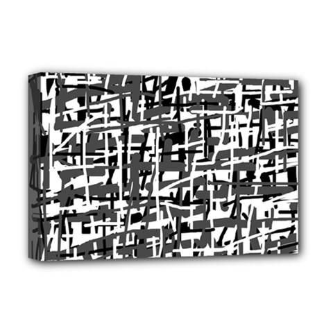 Gray pattern Deluxe Canvas 18  x 12