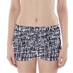 Gray pattern Boyleg Bikini Wrap Bottoms