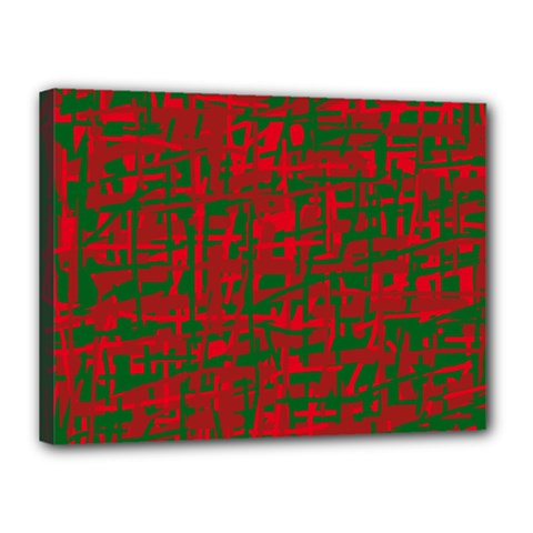 Green and red pattern Canvas 16  x 12