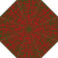 Green and red pattern Folding Umbrellas
