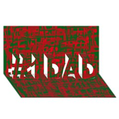 Green and red pattern #1 DAD 3D Greeting Card (8x4)