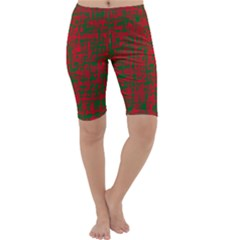 Green and red pattern Cropped Leggings