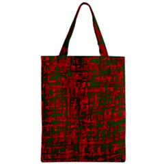 Green and red pattern Zipper Classic Tote Bag