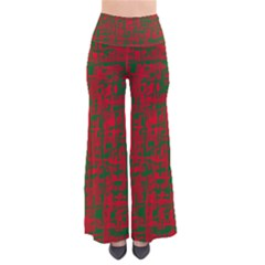 Green and red pattern Pants