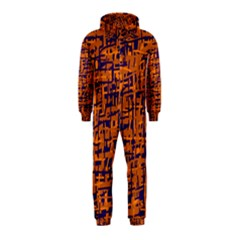 Blue and orange decorative pattern Hooded Jumpsuit (Kids)