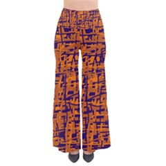 Blue And Orange Decorative Pattern Pants