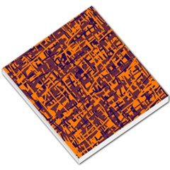 Orange and blue pattern Small Memo Pads