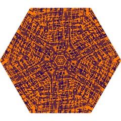 Orange and blue pattern Mini Folding Umbrellas