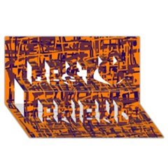 Orange and blue pattern Best Friends 3D Greeting Card (8x4)