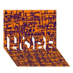 Orange and blue pattern HOPE 3D Greeting Card (7x5)