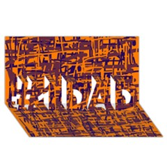 Orange and blue pattern #1 DAD 3D Greeting Card (8x4)