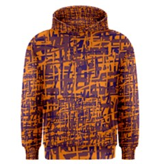 Orange and blue pattern Men s Pullover Hoodie