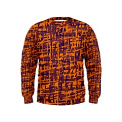 Orange and blue pattern Kids  Sweatshirt