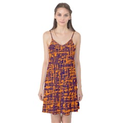 Orange and blue pattern Camis Nightgown