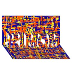 Orange, blue and yellow pattern #1 MOM 3D Greeting Cards (8x4)